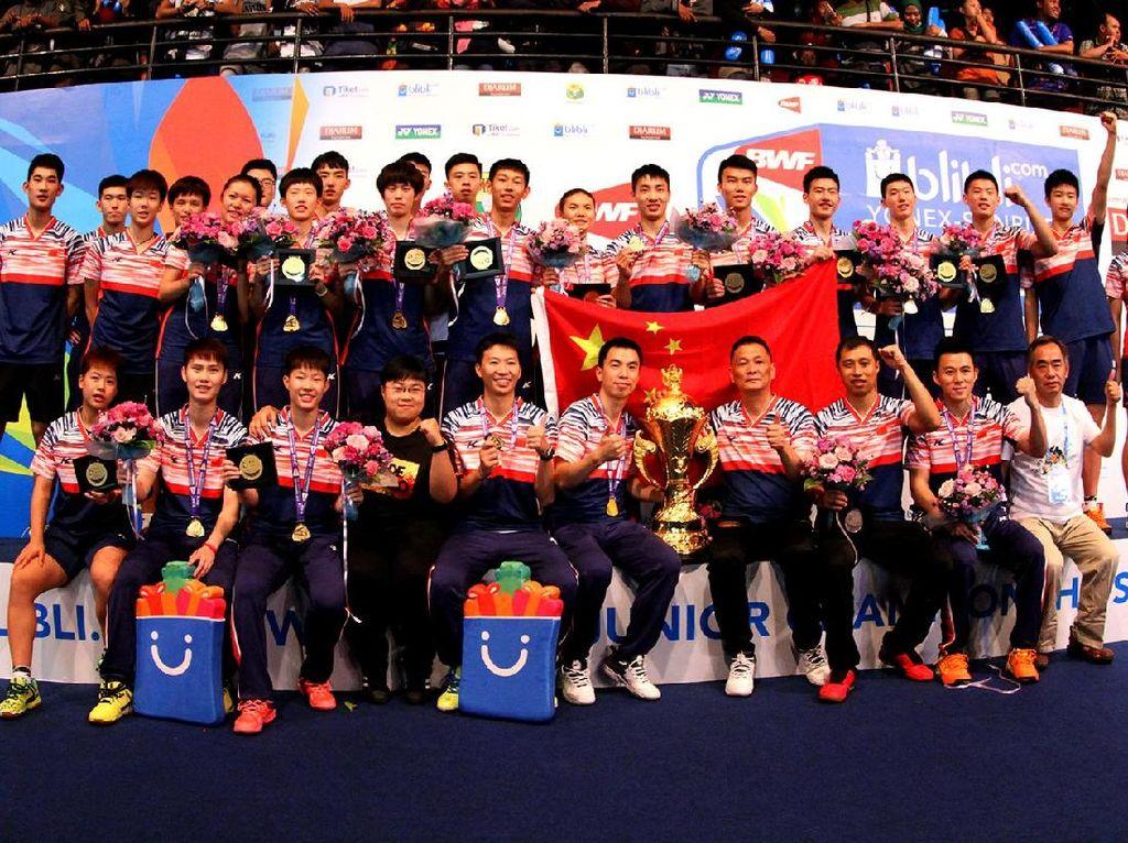Atasi Malaysia, China Pertahankan Gelar Juara