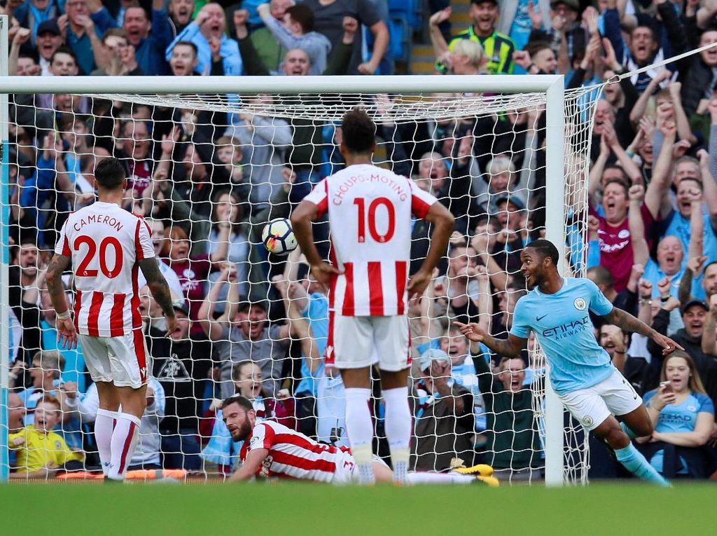 City Sementara Ungguli Stoke 3-1