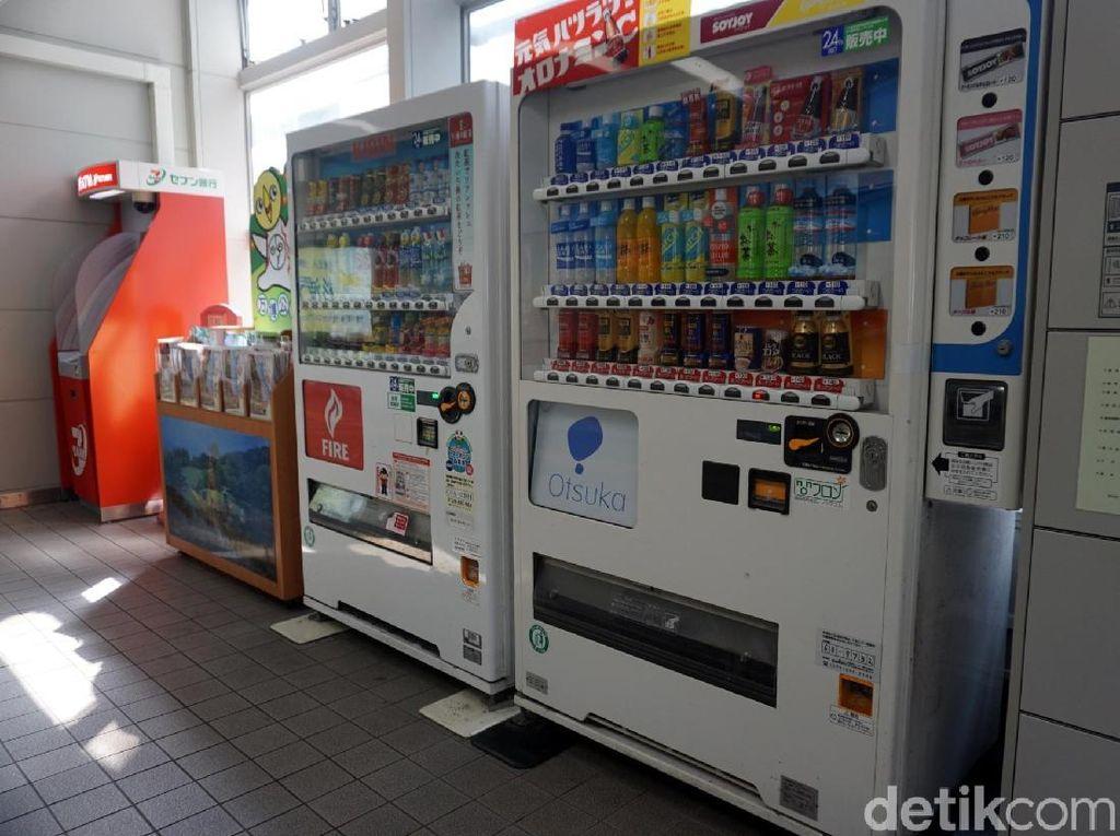 Kreatif! Display Minuman di Vending Machine Ini Digambar dengan Tangan