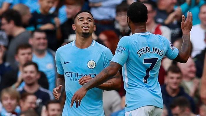 Raheem Sterling dan Gabriel Jesus jadi favorit manajer Fantasy Premier League pekan ini (Jason Cairnduff/Action Images via Reuters)