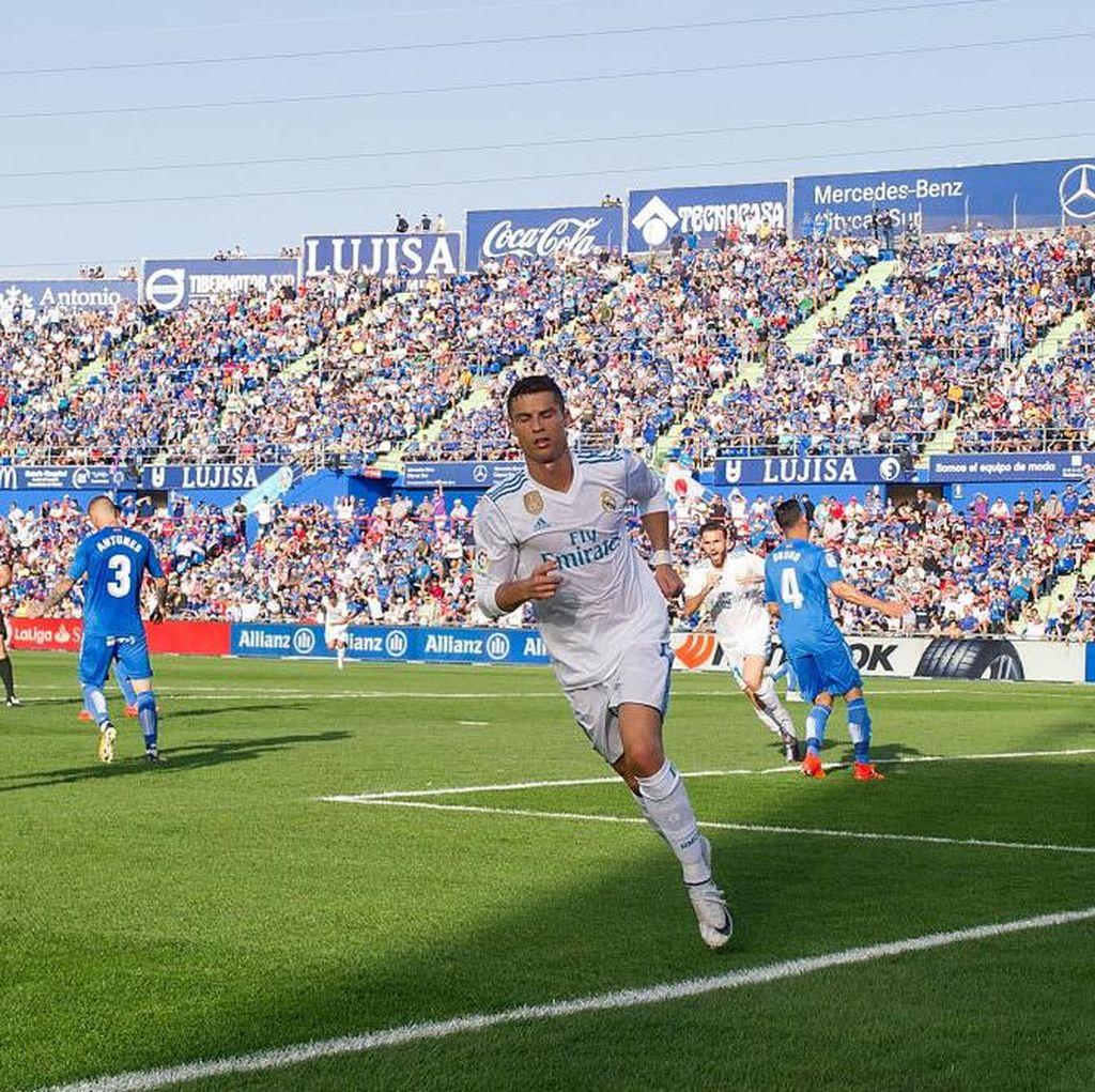Usai 28 Tembakan, Ronaldo Cetak Gol Pertamanya di La Liga Musim Ini