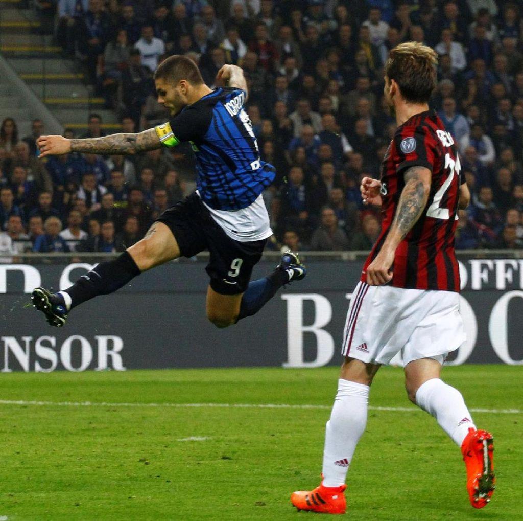 Hat-trick Icardi Menangkan Inter atas Milan 3-2