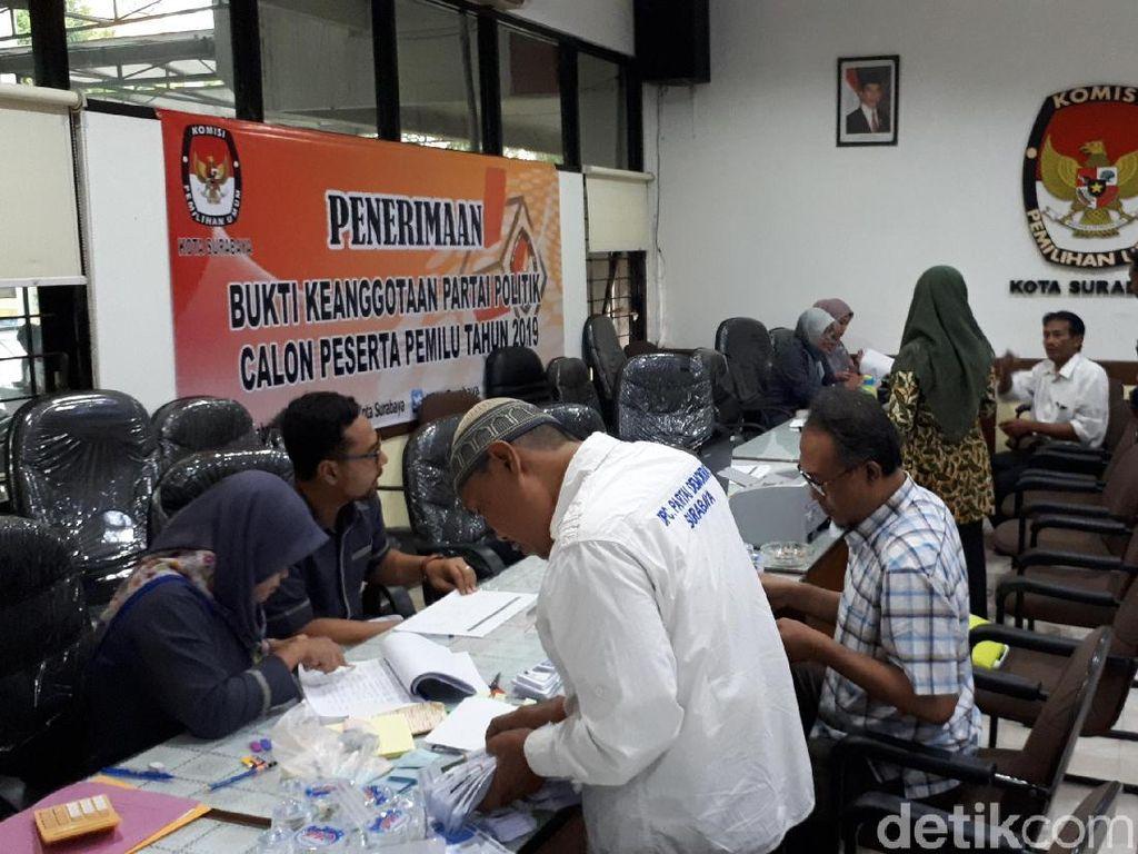 KPU Surabaya Pastikan Baru 1 Parpol yang Berkas Pencalegan Lengkap