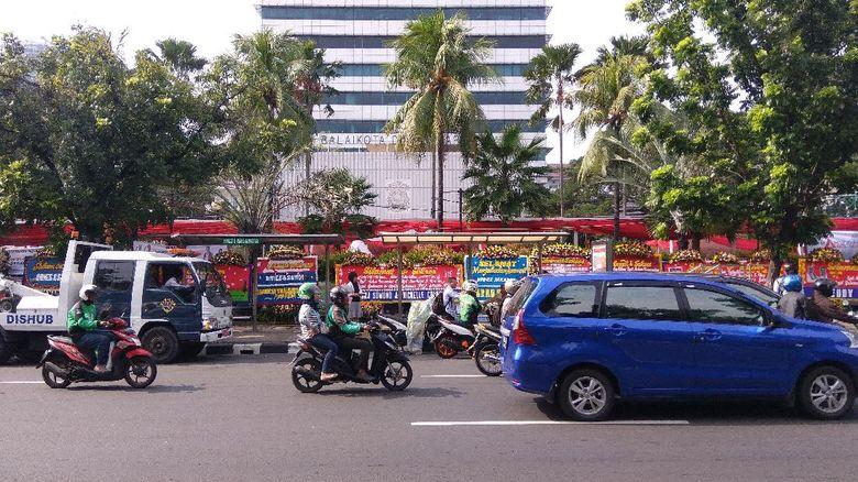 Jalan Medan Merdeka Selatan Ditutup Saat Selamatan Anies-Sandi