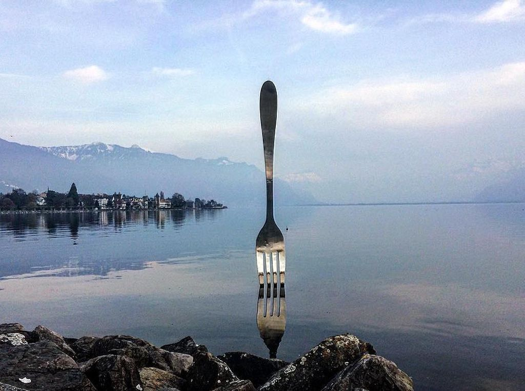 Foto: Garpu Raksasa Nancep di Danau