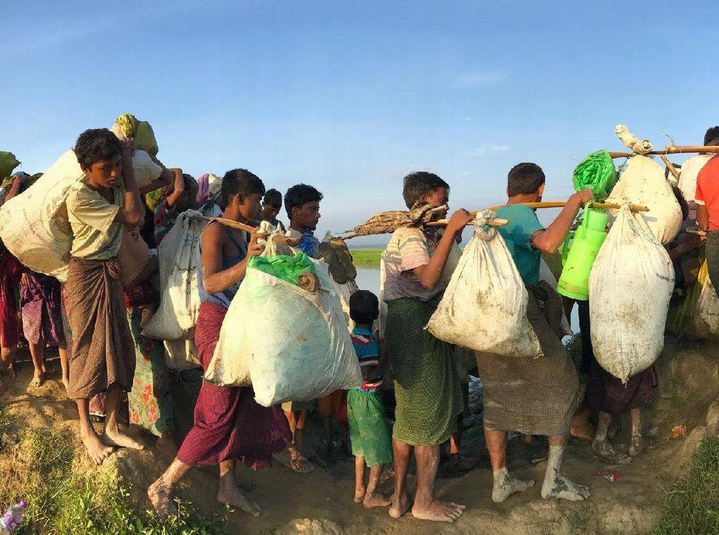 PBB: 11.432 Warga Rohingya di Myanmar Kabur ke Bangladesh 2018
