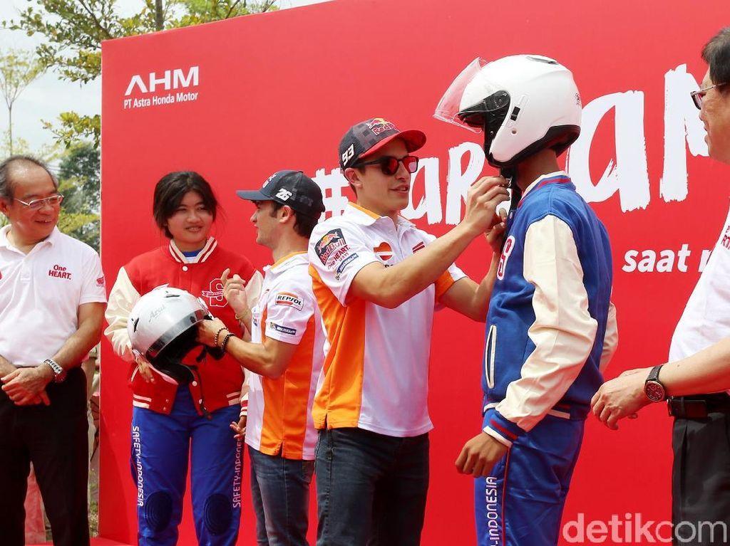 Marquez-Pedrosa Kampanye Safety Riding di Tangerang
