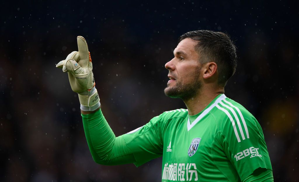 WEST BROMWICH, ENGLAND - SEPTEMBER 30:  WBA goalkeeper Ben Foster reacts  during the Premier League match between West Bromwich Albion and Watford at The Hawthorns on September 30, 2017 in West Bromwich, England.  (Photo by Stu Forster/Getty Images)