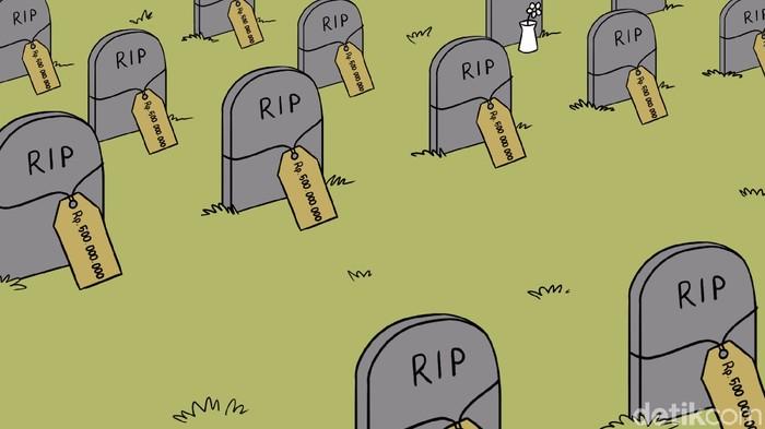Ilustrasi kuburan seharga setengah miliar rupiah