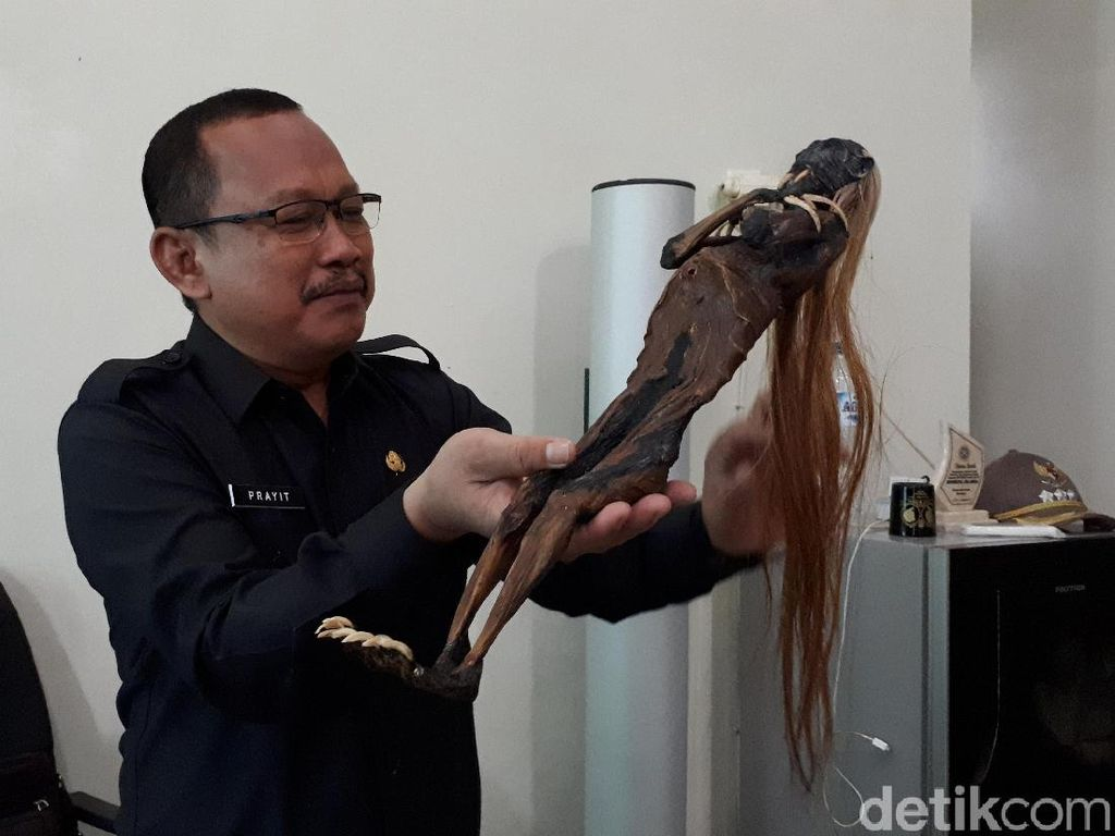 Jenglot Menyeramkan Ditemukan di Pantai Watu-watu akan Dilarung