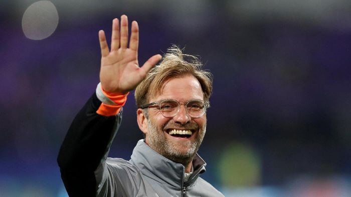 Soccer Football - Champions League - Maribor vs Liverpool - Ljudski vrt, Maribor, Slovenia - October 17, 2017   Liverpool manager Juergen Klopp celebrates at the end of the match    Action Images via Reuters/Paul Childs