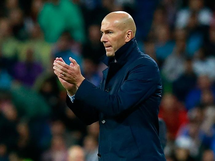Pelatih Real Madrid, Zinedine Zidane. (Foto: Gonzalo Arroyo Moreno/Getty Images)