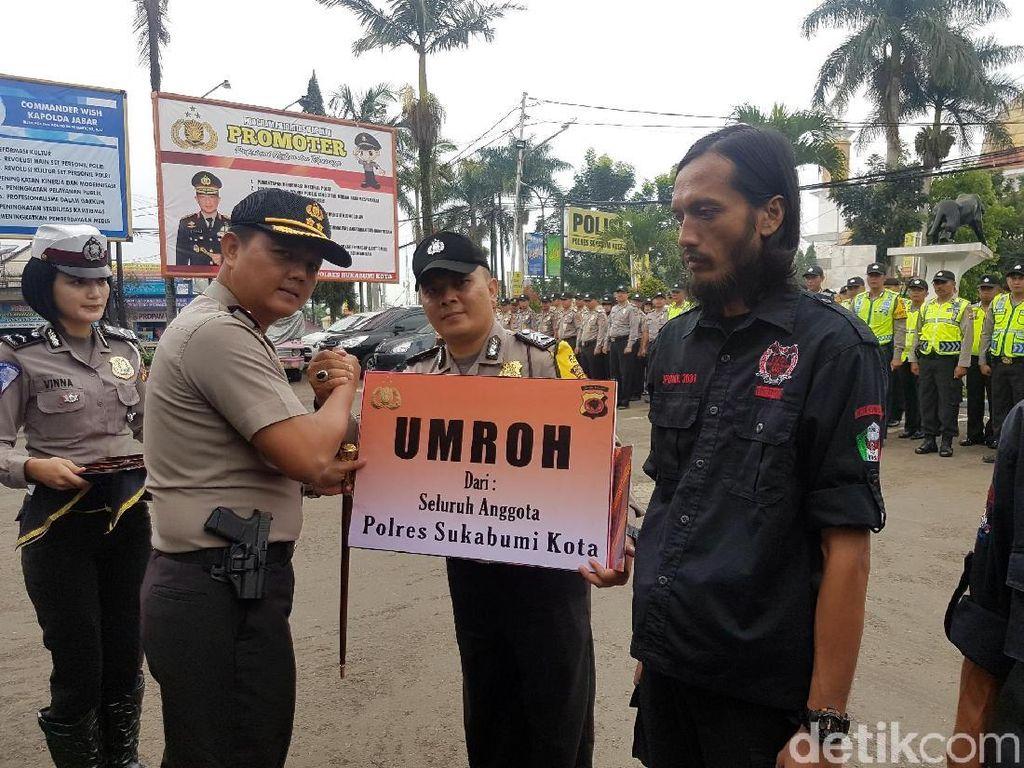 Brigadir Dikri Dapat Hadiah Umrah dari Anggota Polresta Sukabumi
