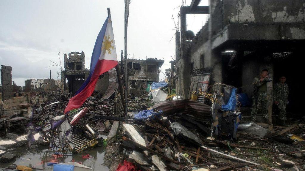 Foto: Penampakan Kota Marawi yang Diyakini Telah Bebas dari ISIS