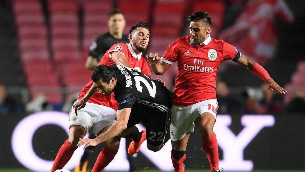 Benfica Vs MU Masih Tanpa Gol di Babak Pertama