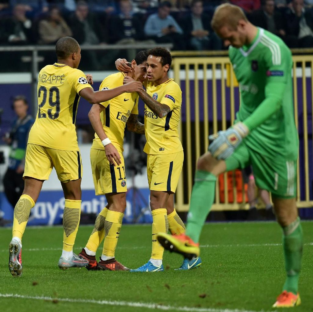 Trio MNC Bikin Gol, PSG Hajar Anderlecht 4-0