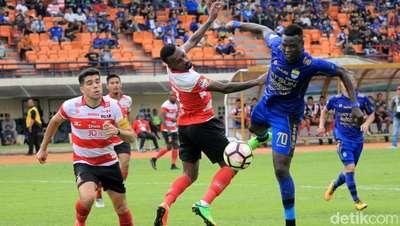 Persib vs Madura United Tanpa Pemenang