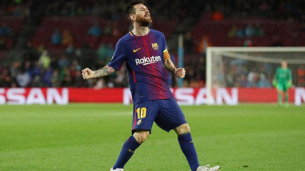 Messi Cetak Gol ke-100 di Kompetisi Eropa