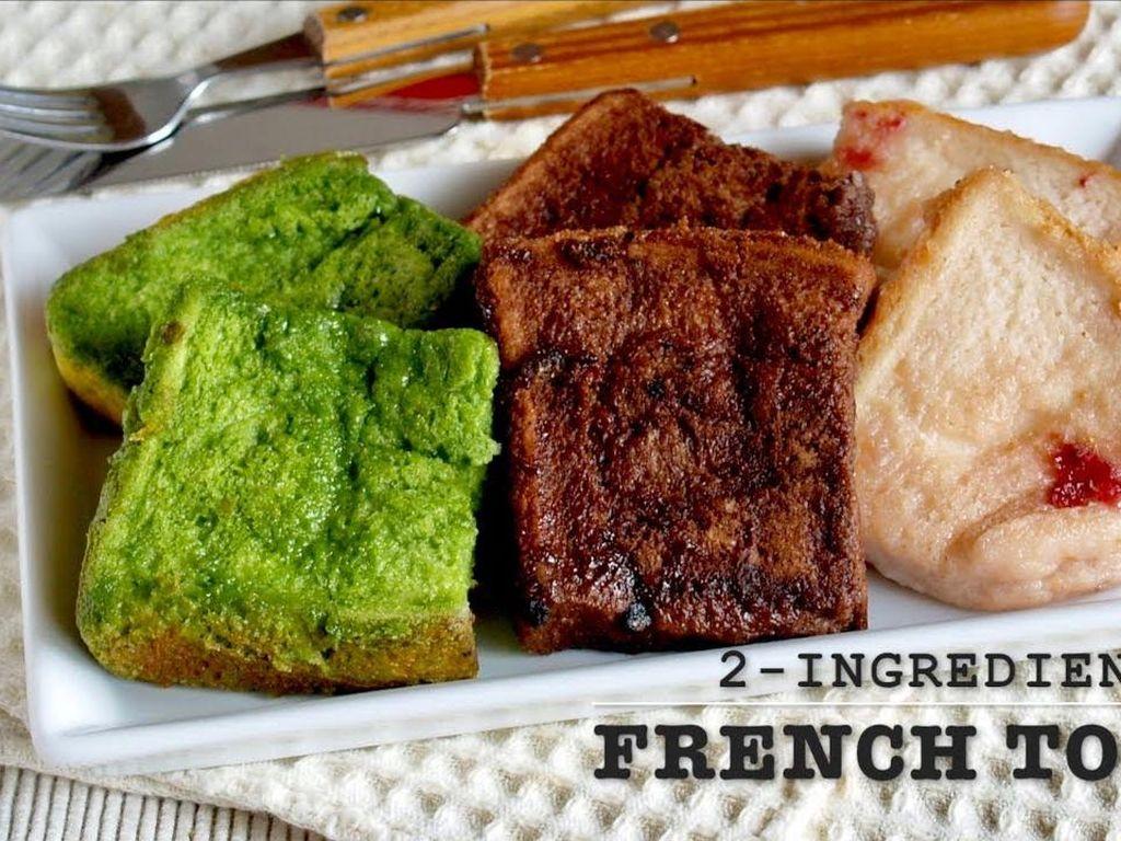 French Toast dengan 2 Bahan Ini Sangat Mudah Dibuat!