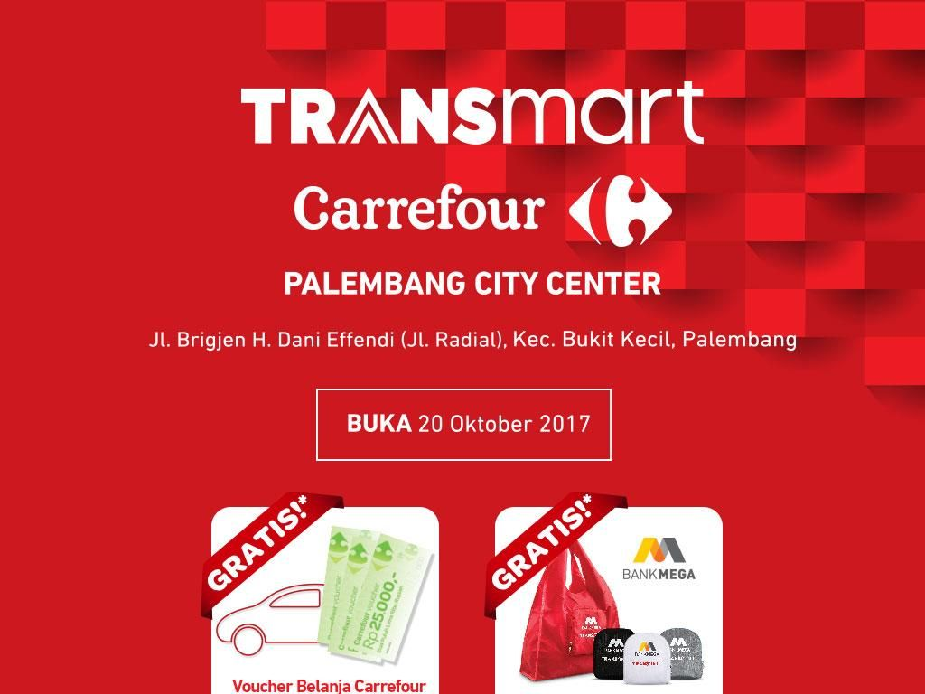 Promo Groseri hingga Elektronik di Transmart Palembang City Center