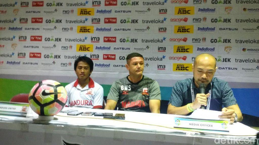 Terpeleset di Kandang Persib, Madura United Yakin Kans Juara Masih Terbuka