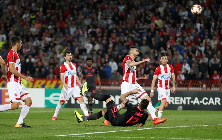 Giroud Menangkan Arsenal atas Red Star Belgrade