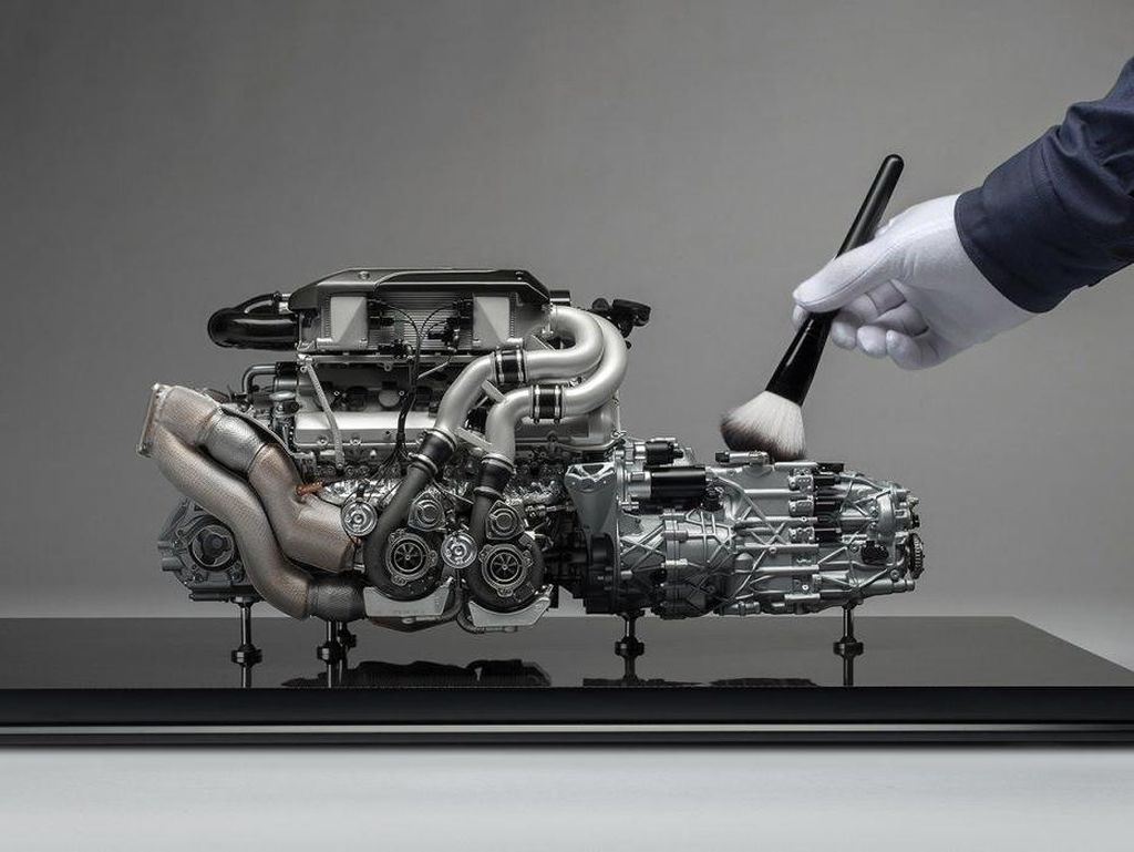 Miniatur Mesin Bugatti Chiron Seharga Daihatsu Ayla