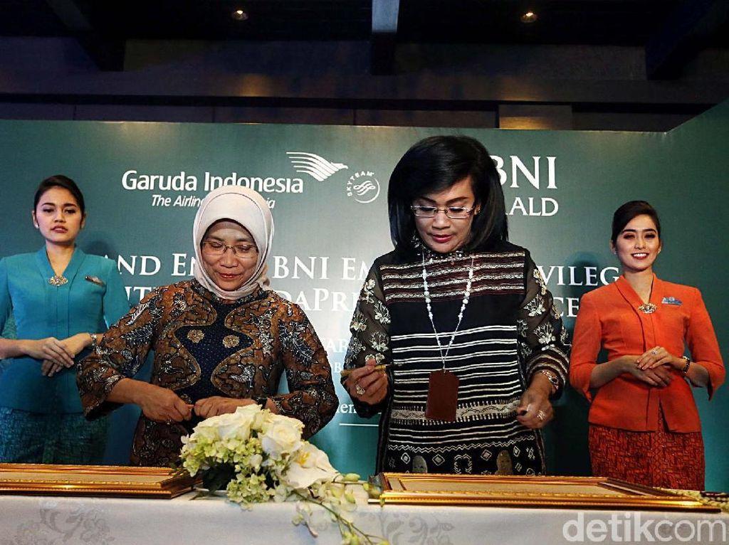 BNI Gandeng Garuda Indonesia