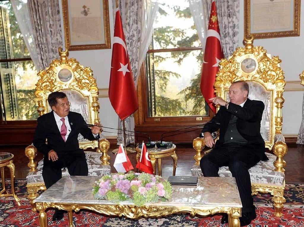 Foto: Keakraban Wapres JK dengan Erdogan di Turki