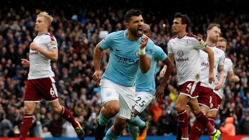 Penalti Aguero Bawa City Ungguli Burnley