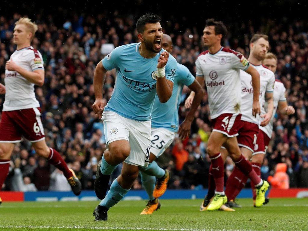 Penalti Aguero Bawa City Ungguli Burnley