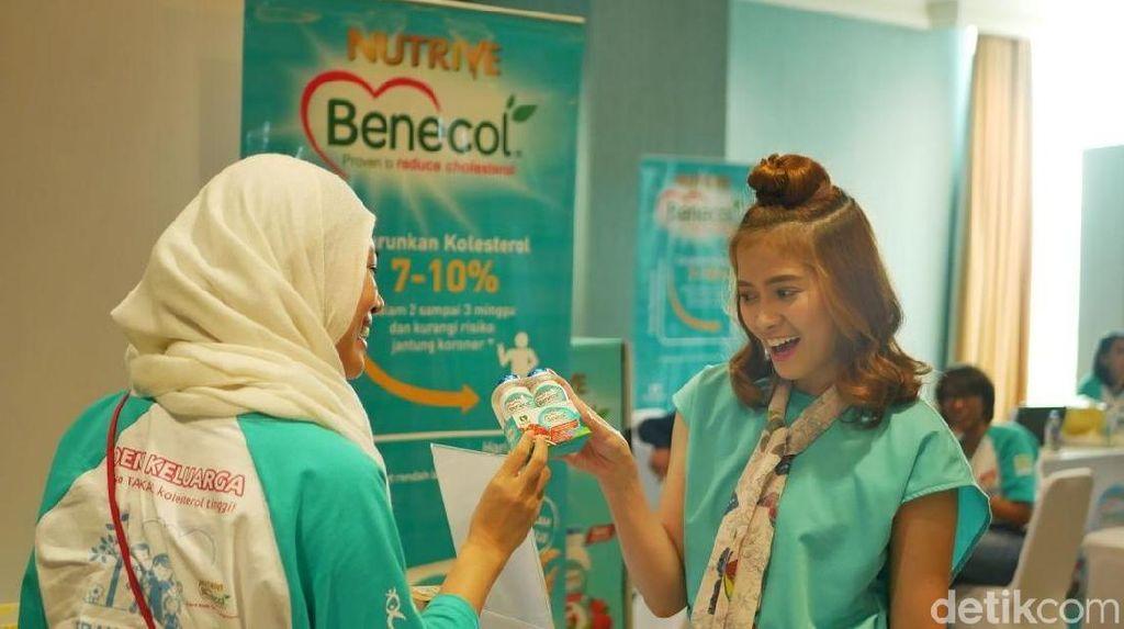 Rentan Terkena Kolesterol Tinggi, Chika Jessica Kenalkan Nutrive Benecol
