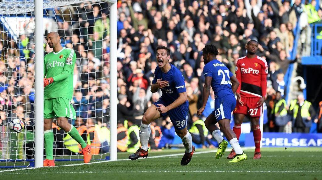 Bangkit dari Ketertinggalan, Chelsea Tundukkan Watford 4-2