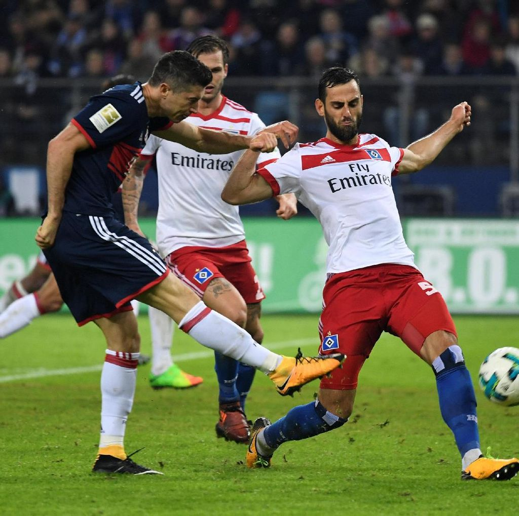 Unggul Jumlah Pemain, Bayern Menang 1-0 atas Hamburg