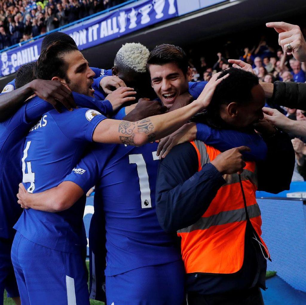 Ketika Perayaan Gol Chelsea Ikut Libatkan Steward