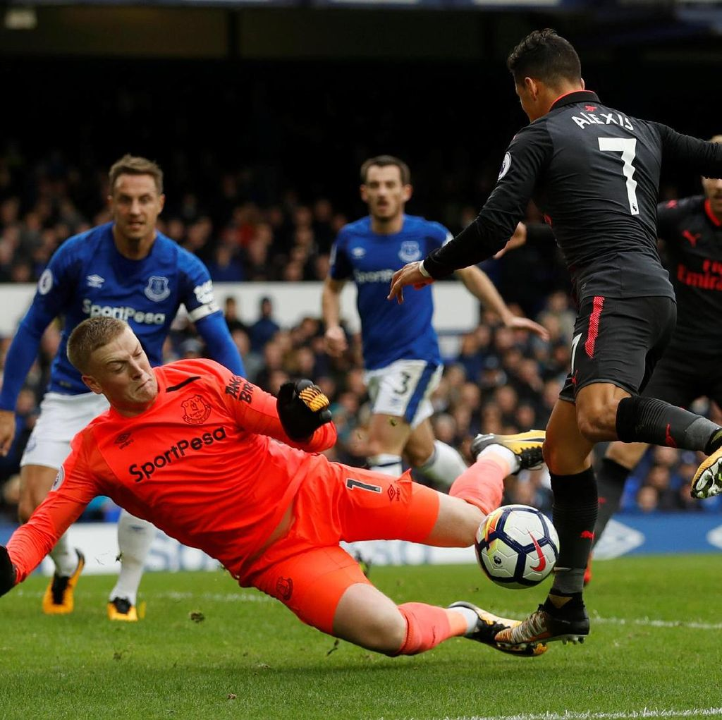 Everton vs Arsenal Sementara Sama Kuat 1-1