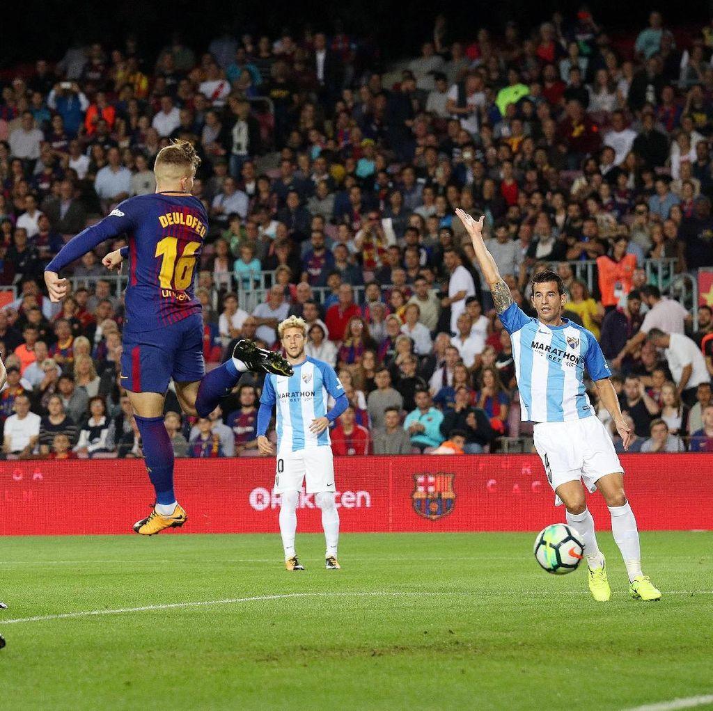 Gol Kontroversial Barca dalam Kemenangan atas Malaga