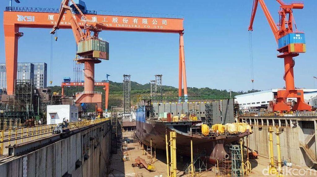Mengintip Pabrik Kapal Roro Raksasa di China