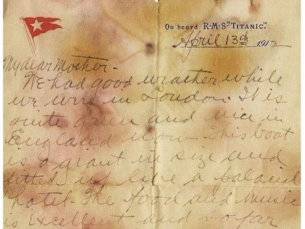 Fantastis! Surat Penumpang Titanic Berhasil Dilelang Rp 2,1 M