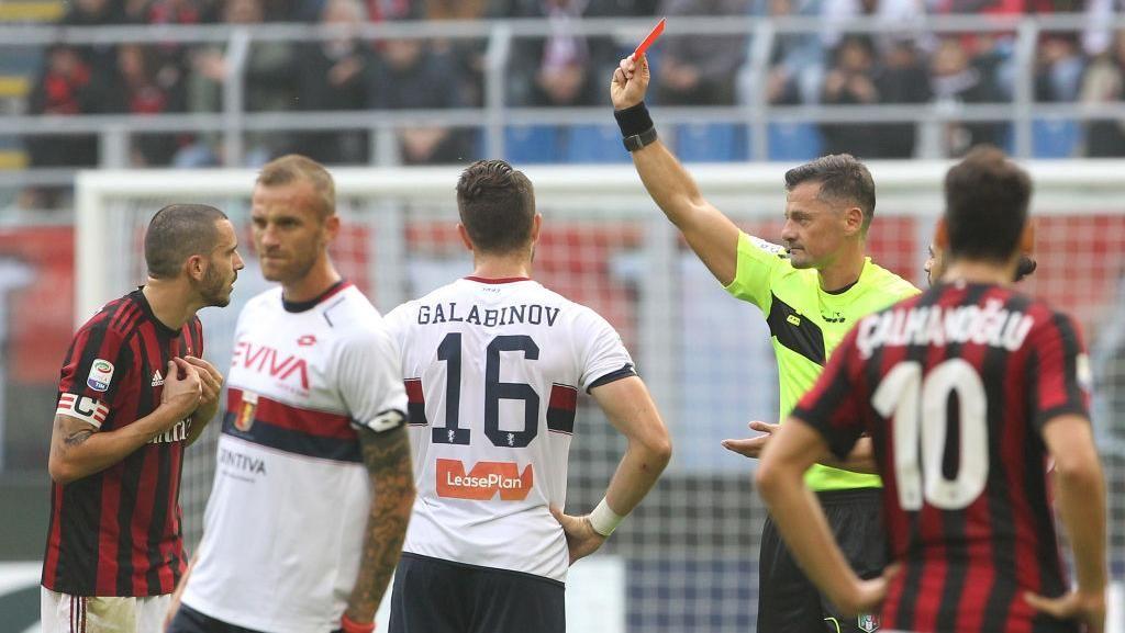 Kata Buffon soal Bonucci yang Dikartu Merah Lawan Genoa