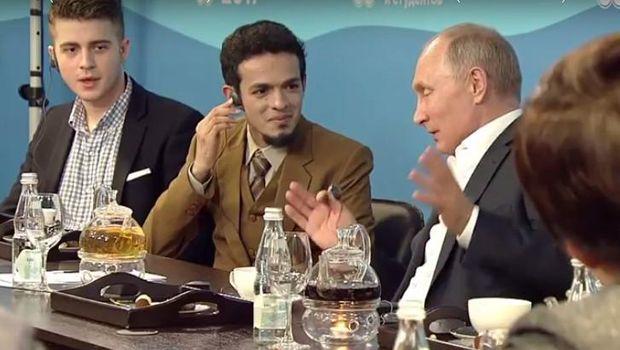 Gamal Albinsaid saat bertemu Putin /