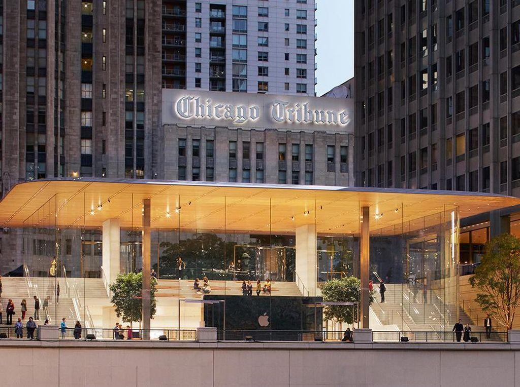 Kerennya Toko Apple di Michigan Avenue