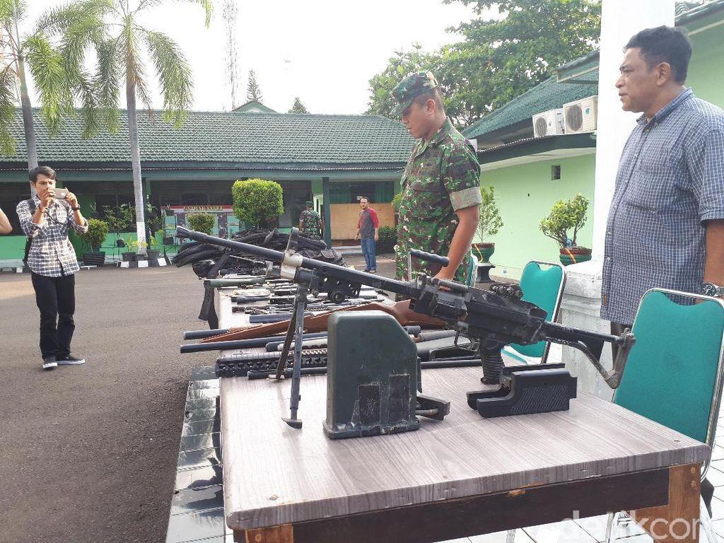 Sejumlah Airsoft Gun Disita Kodim dari Rumah Warga di Tangerang