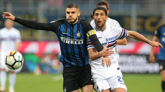 Mauro Icardi mencetak dua gol ke gawang Sampdoria (Emilio Andreoli/Getty Images)