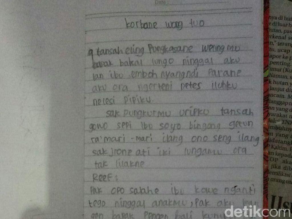 Ini Isi Curahan Hati Pelajar SMP di Jombang yang Gantung Diri