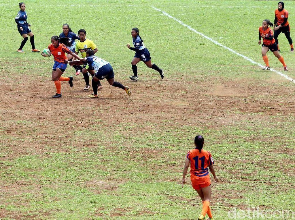 Tim Rugby Putri DKI Jakarta Bantai Bali 38-0