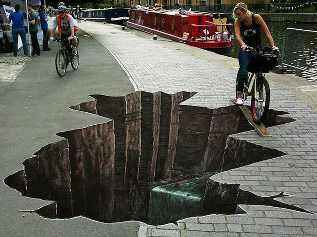 Seni Jalanan yang Lucu dan Mengagumkan