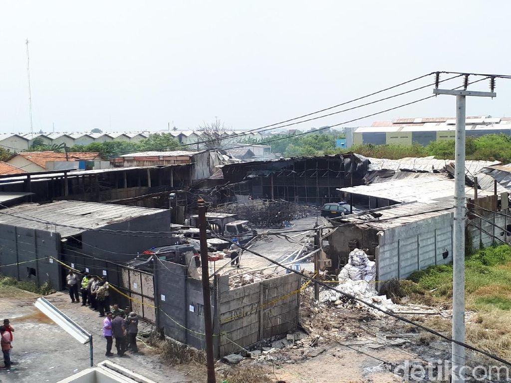 Begini Parahnya Kerusakan Pabrik Kembang Api di Kosambi