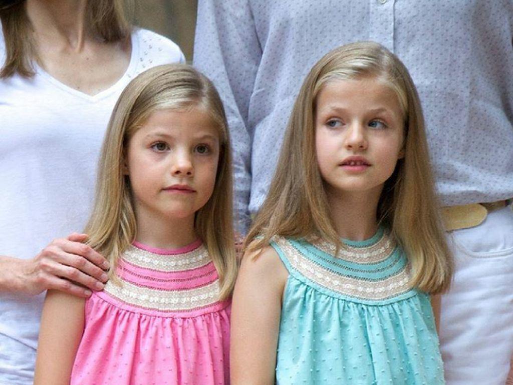 Cantiknya Leonor dan Sofia, Princess Cilik dari Kerajaan Spanyol