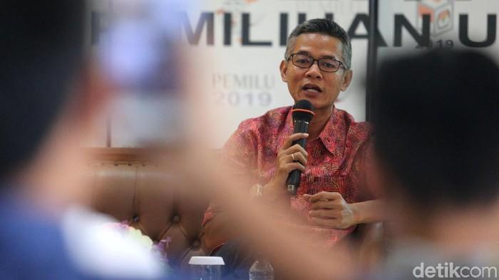 Komisioner KPU Wahyu Setiawan yang terjaring OTT KPK. (Ari Saputra/detikcom)